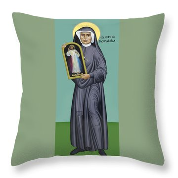 St. Faustina Kowalska - Rlfak Throw Pillow