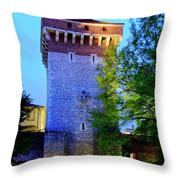 Throw Pillow featuring the photograph St. Florian's Gate by Fabrizio Troiani