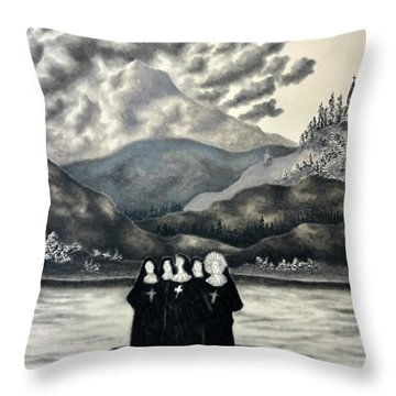 St. Franchea In Arran Throw Pillow