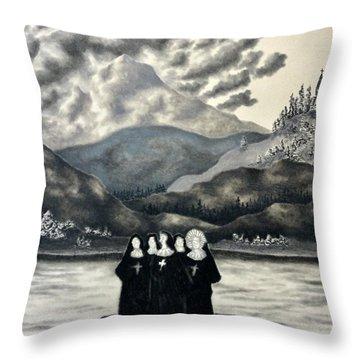 St. Franchea In Arran Throw Pillow