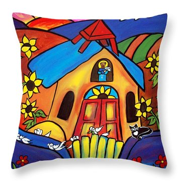 St. Francis Ad Friends Throw Pillow