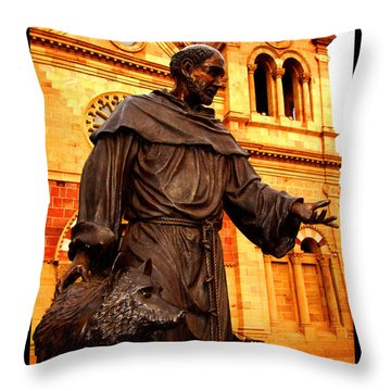 Cathedral Basilica Of St. Francis Of Assisi Throw Pillow