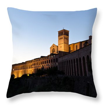 St Francis Assisi At Sundown Throw Pillow by Jon Berghoff