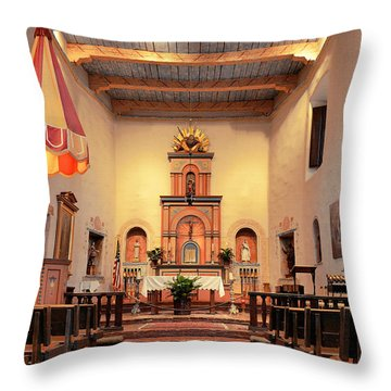 St Francis Chapel At Mission San Diego Throw Pillow