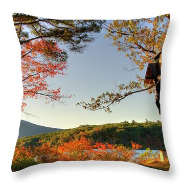 Throw Pillow featuring the photograph St Francis Chapel - Marlborough, Nh by Joann Vitali