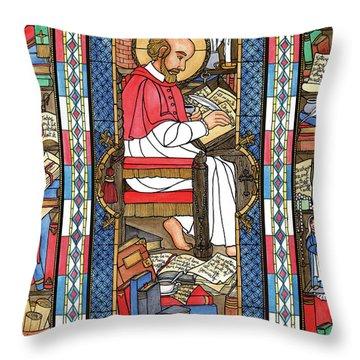 St. Francis De Sales Throw Pillow