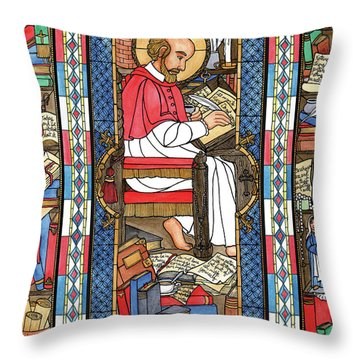 St. Francis De Sales Throw Pillow