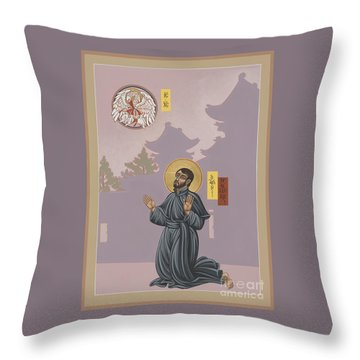 St Francis Xavier Adoring Jesus The Mother Pelican 164 Throw Pillow