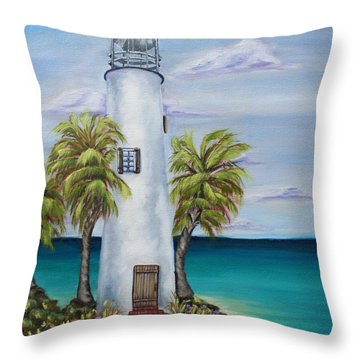St. George Island Lighthouse Throw Pillow