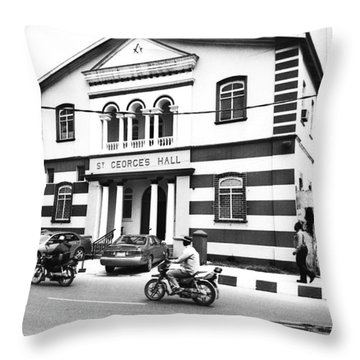 St. Georges Hall, Broad Street Throw Pillow