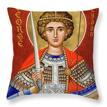 St. George Of Lydda - Jcgly Throw Pillow