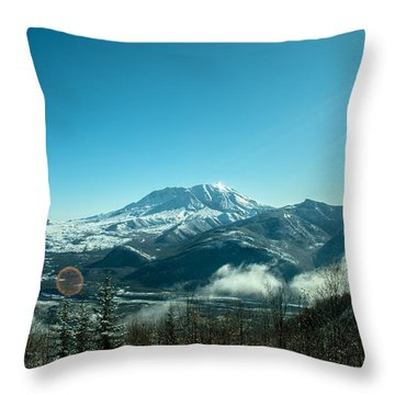 St Helens Big View Throw Pillow