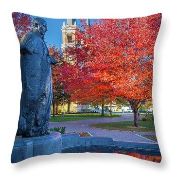 St Ignatius At Gonzaga Throw Pillow