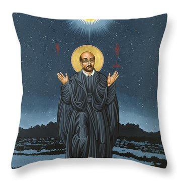 St. Ignatius In Prayer Beneath The Stars 137 Throw Pillow