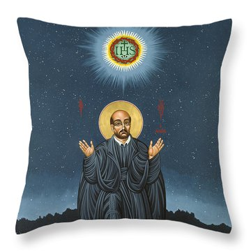 St. Ignatius In Prayer Beneath The Stars 137 Throw Pillow