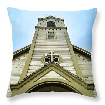 St. Ignatius Of Loyola Church And Cemetary Throw Pillow by Onyonet  Photo Studios