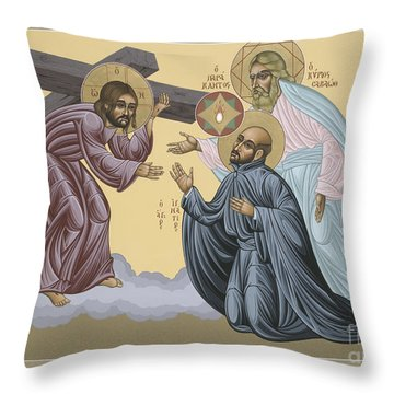 St Ignatius Vision At La Storta 074 Throw Pillow