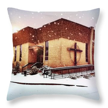 St. Isaac Jogues In The Snow Throw Pillow