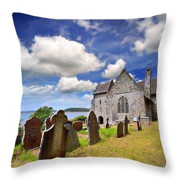 St Ishmael's Church Throw Pillow