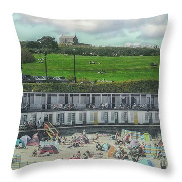 St Ives Cornwall Throw Pillow