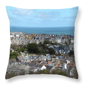 Throw Pillow featuring the photograph St Ives, Cornwall, Uk by Nicholas Burningham
