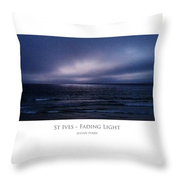 Throw Pillow featuring the digital art St Ives - Fading Light by Julian Perry