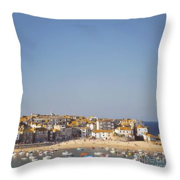 Throw Pillow featuring the photograph St Ives Harbour by Lyn Randle