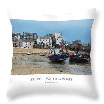 St Ives - Waiting Boats Throw Pillow