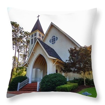 Throw Pillow featuring the photograph St. James V2 Fairhope Al by Michael Thomas