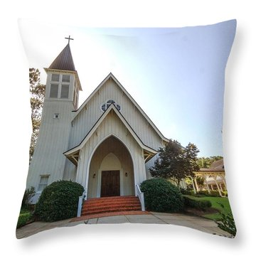 Throw Pillow featuring the photograph St. James V3 Fairhope Al by Michael Thomas