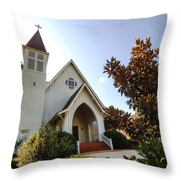 Throw Pillow featuring the photograph St. James V4 Fairhope Al by Michael Thomas