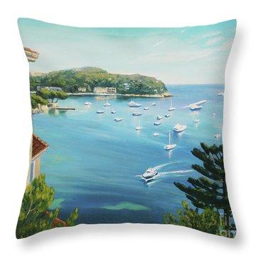 St Jean Cap Ferrat 2 Throw Pillow