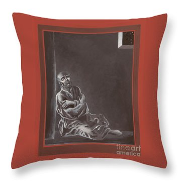 Throw Pillow featuring the painting  St John Of The Cross In The Dark Night Of The Soul 290 by William Hart McNichols