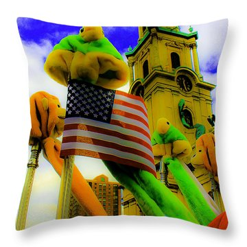 St. Johns America Throw Pillow
