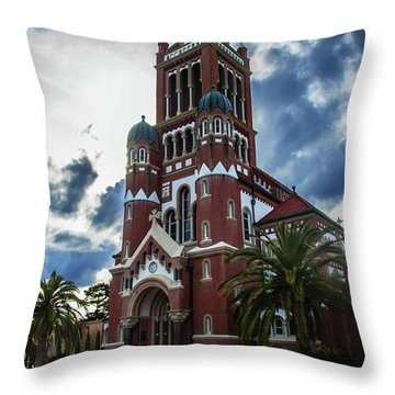 St. Johns Cathedral 1 Throw Pillow by Robert Hebert