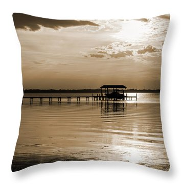 St. Johns River Throw Pillow by Anthony Baatz