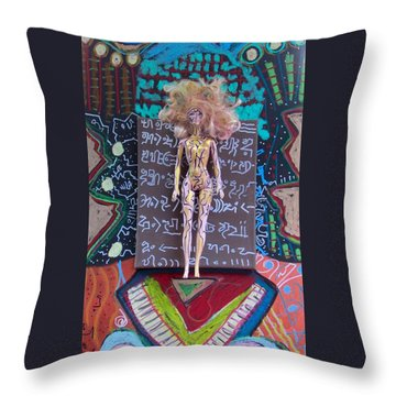 Throw Pillow featuring the painting St. John's Wort Herbal Tincture by Clarity Artists