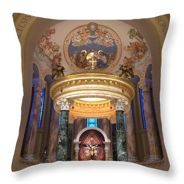 St. Joseph Cathedral-sioux Falls Sd Throw Pillow