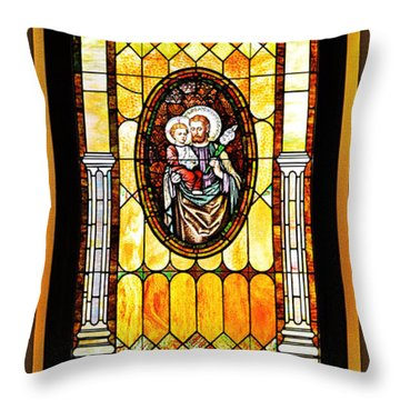 Throw Pillow featuring the photograph St Joseph Immaculate Conception San Diego by Christine Till
