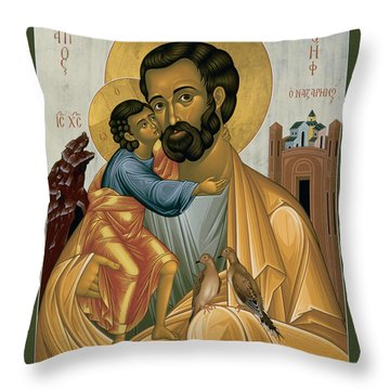 St. Joseph Of Nazareth - Rljnz Throw Pillow