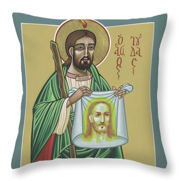 Throw Pillow featuring the painting St Jude Patron Of The Impossible 287 by William Hart McNichols