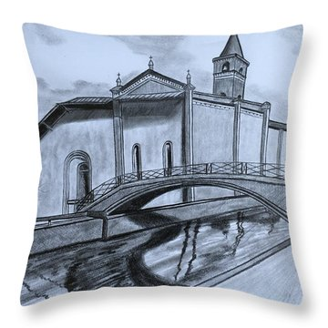 St. Jules Cathedral  Throw Pillow