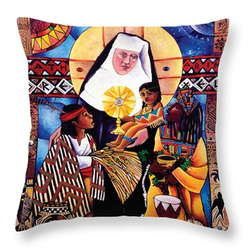 St. Katharine Drexel - Mmkdr Throw Pillow