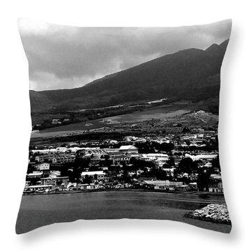 St. Kitts Beautiful Caribbean Island  Throw Pillow