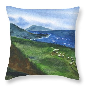 St Kitts View Throw Pillow