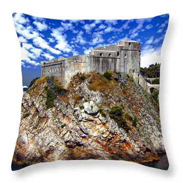 St. Lawrence Fortress Throw Pillow