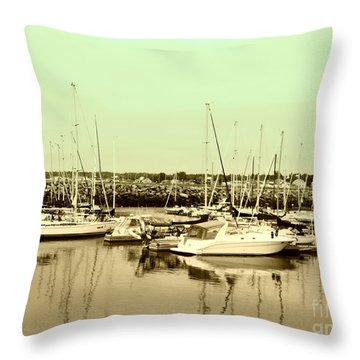 St. Lawrence Seaway Marina Throw Pillow