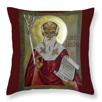 St Leander Throw Pillow