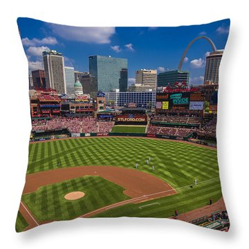 St. Louis Cardinals Busch Stadium Creative 16 Throw Pillow