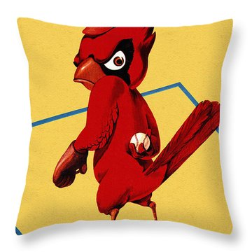 St. Louis Cardinals Vintage 1956 Program Throw Pillow